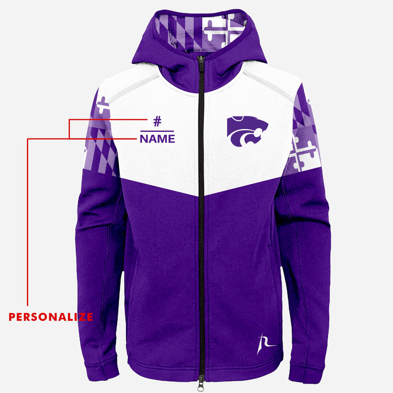 Pikesville Wildcats Adult Maryland Flag Full Zip Jacket
