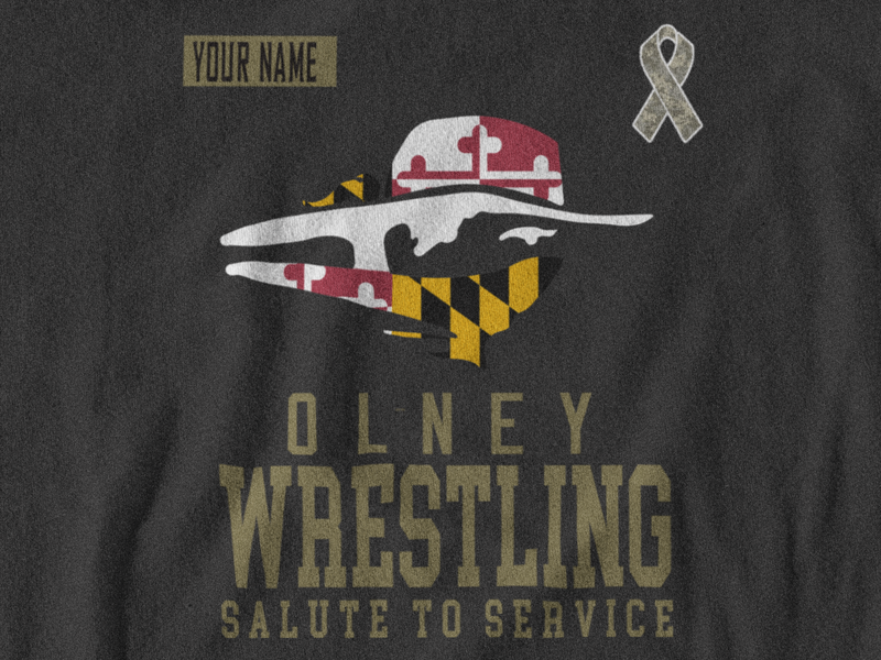 Olney Wrestling 2020 Salute to Service Tee