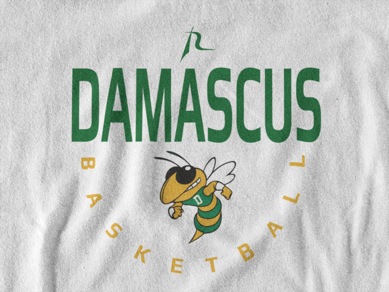 Damascus Hornets Basketball Arc Short Sleeve Tee