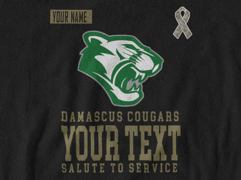 Damascus Cougars Short Sleeve Salute to Service Tee