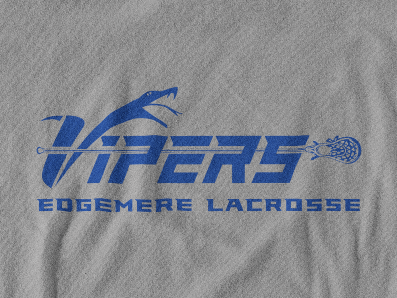 Vipers Lacrosse Gray Fleece Hoodie