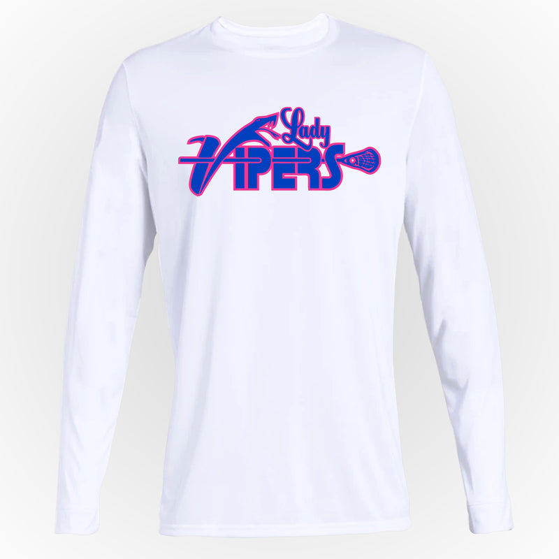 Lady Vipers Lacrosse White Long Sleeve Tee