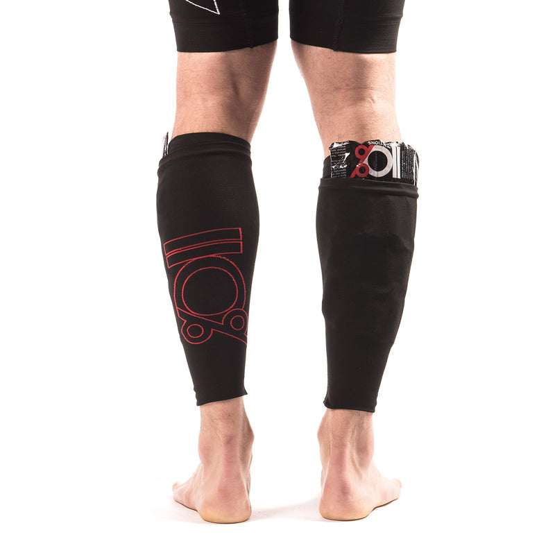 Double-life compression calf sleeves + ice