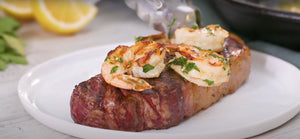RECIPE: New York Strip Steak With Spot Prawn Scampi