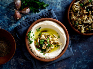 CAULIFLOWER & WHITE BEAN PUREE WITH PRESERVED LEMON