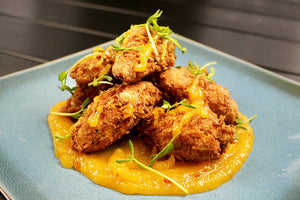 RECIPE:  Coconut Breaded Chicken Wings With Mango Chili Glaze
