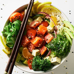 Salmon Poke Kit With Sriracha Sauce