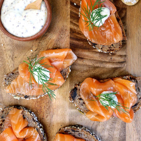 Nordic Steelhead Gravlax Slices