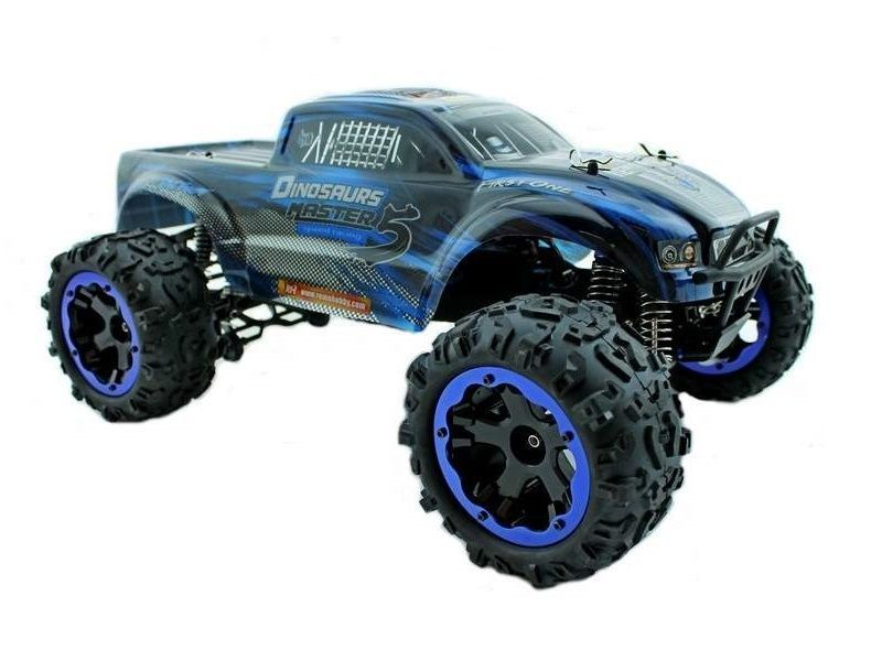Remo Hobby 1/8 SCALE ELECTRIC 4WD 2.4GHZ RC OFF-ROAD BRUSHED (TWIN MOTORS)/BRUSHLESS/ B/L - UPGRADED MONSTER TRUCK DINOSAURS MASTER