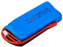 LiPo Battery 7.4v 1500mah 30C with Deans Plug or JST XH30 connector