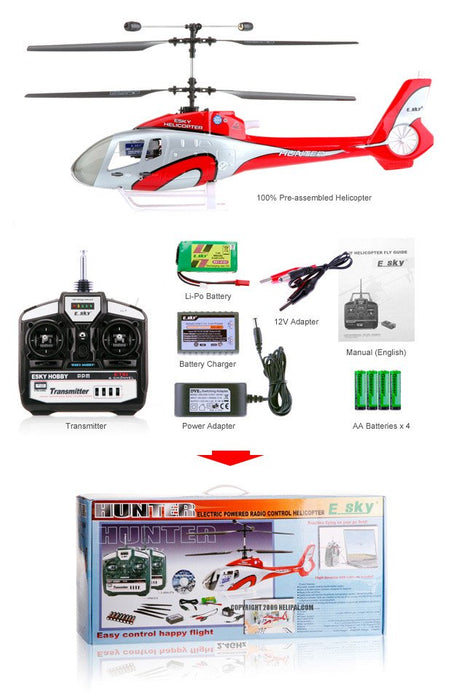 ESKY Hunter 4 Channel 2.4GHz RC Helicopter