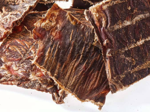 Kangaroo jerky low fat ideal for all dogs and with pancreatitis