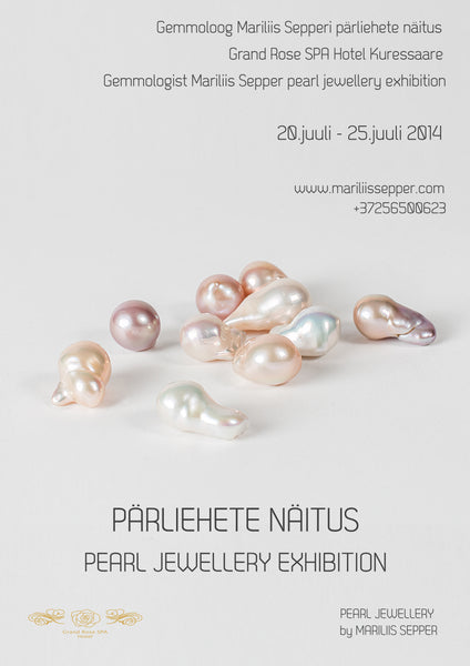 My first pearl jewellery exhibition in Estonia