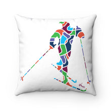 Load image into Gallery viewer, Pillow – X-Country Skier (white)