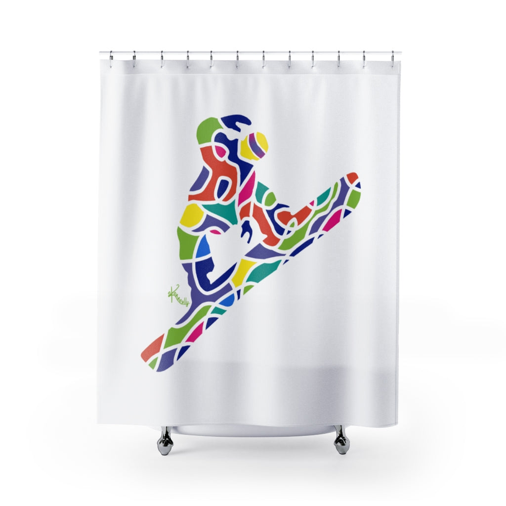 Shower Curtain – Snowboarder