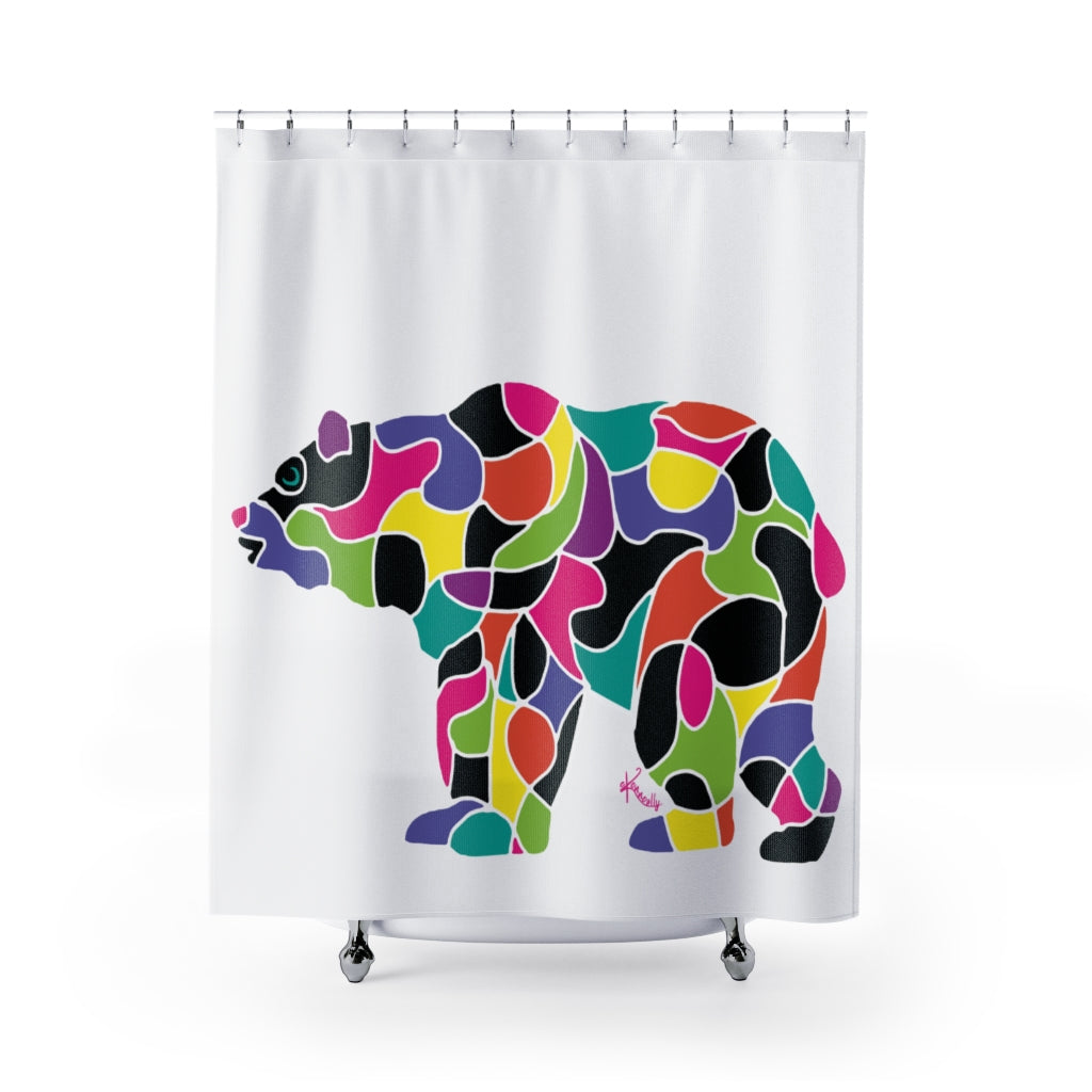 Shower Curtains – Psycadelic Bear