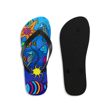 Load image into Gallery viewer, Unisex Sea Creatures Flip-Flops