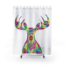 Load image into Gallery viewer, Shower Curtain – Painted Moose