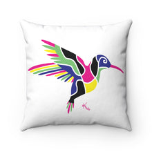 Load image into Gallery viewer, Pillow – Hummingbird (on white)