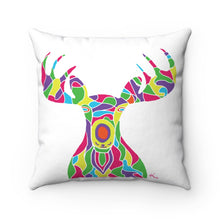 Load image into Gallery viewer, Pillow – The Painted Moose Himself! (on white)