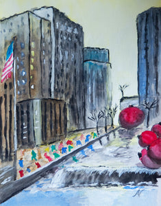 Christmas in NYC! – Original Art/Watercolor