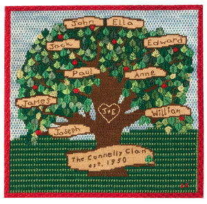 Needlepoint Example – Family Tree