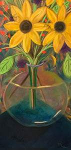 Sunflowers in a Vase – Original Art/Acrylic