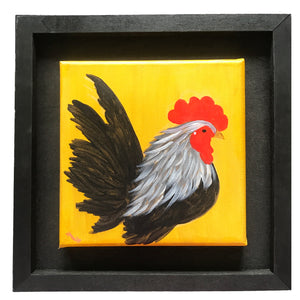 Handsome Little Rooster – Original Art/Acrylic