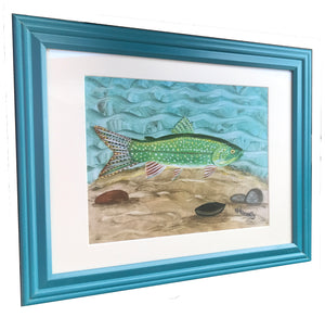 Lake Trout – Framed Art Print