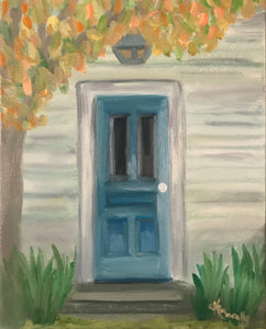 House with the Old Blue Door – Original Art/Oil