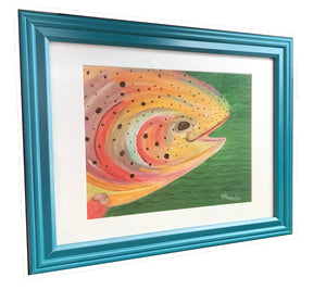 Rainbow Trout – Framed Art Print