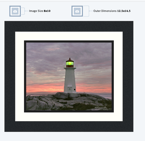 Cove Light, Peggy's Cove, Nova Scotia – Framed Prints 8x10