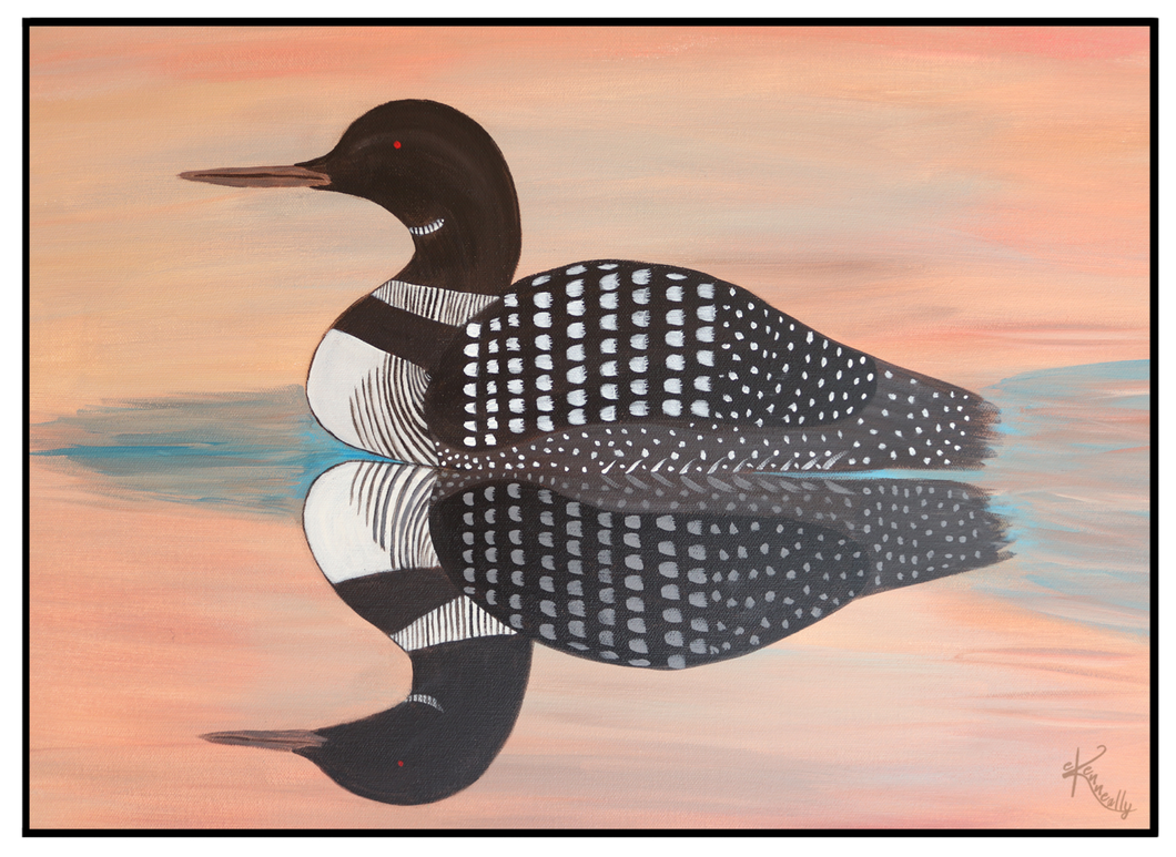 Note Card – Sunset Loon