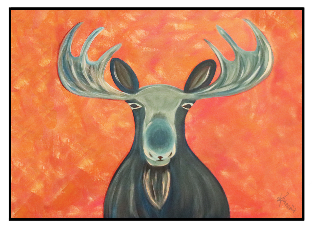 Note Card – Blue Moose
