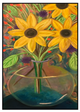 Load image into Gallery viewer, Note Card – Sunflowers in a Vase