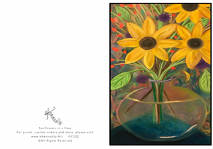 Note Card – Sunflowers in a Vase