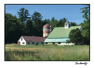 Note Card – East Conway Barn, photo-vector