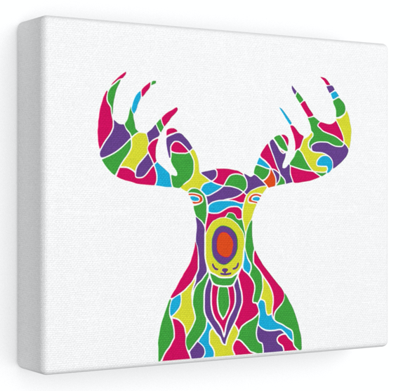 Stretched Canvas – The Painted Moose