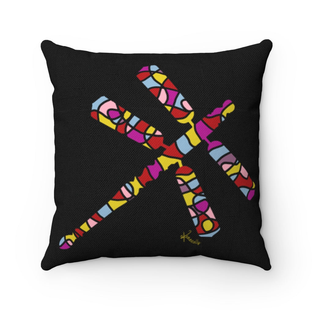 Pillow – Dragonfly (Reds and Yellows)
