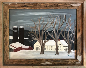 Riverside Farm – Framed Original Art/Acrylic