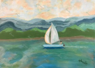 Solo Sail – Original Art/Acrylic