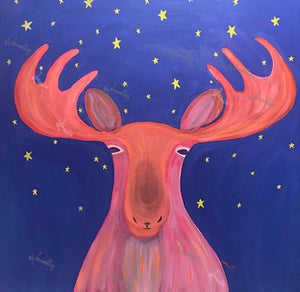 Mystical Moose – Original Art/Acrylic