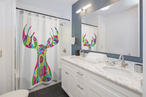 Shower Curtain – Painted Moose