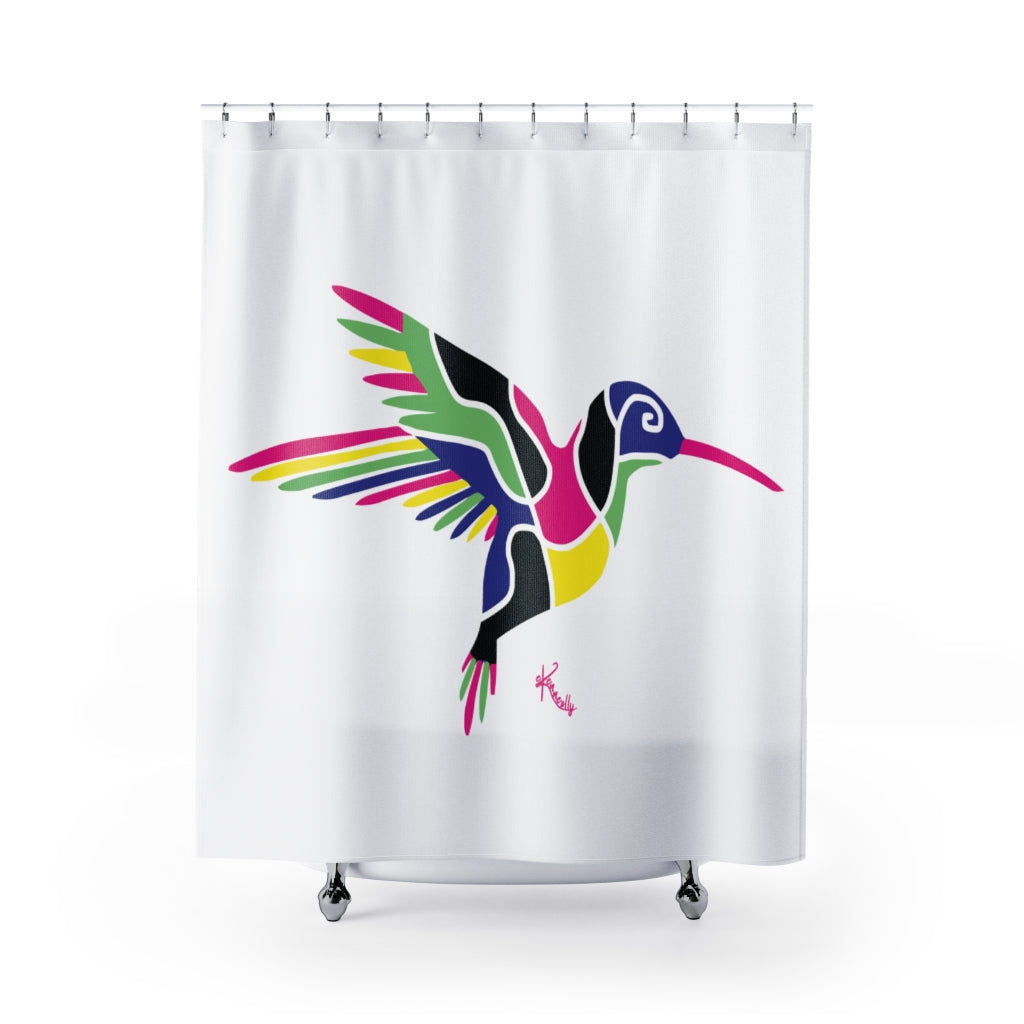 Shower Curtain – Humming Bird