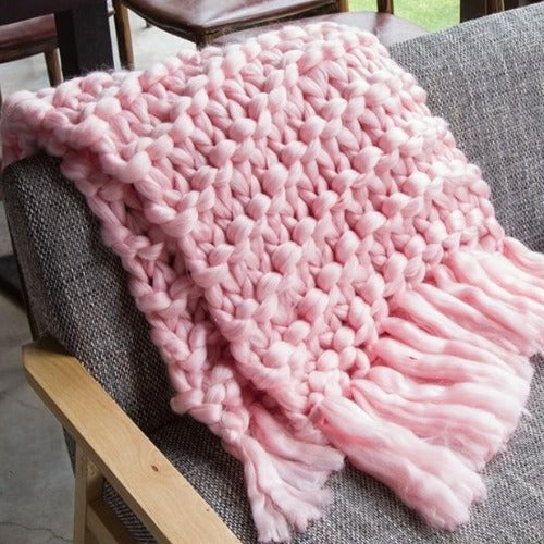 Hand Made Woven Wool Blanket