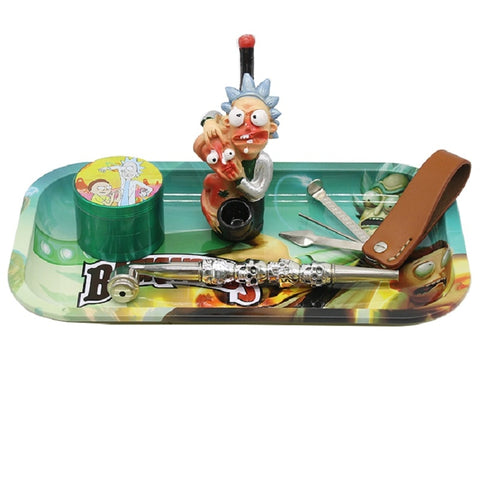Multi-Design Metal Tobacco Smoking Rolling Trays