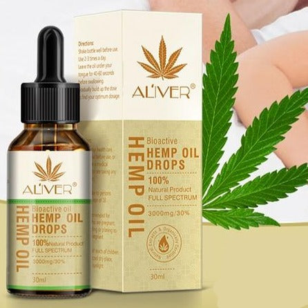 Hemp Seed Oil Drops Reduce Sleep Aid