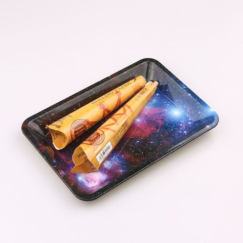 Starry Sky Tobacco Rolling Tray Storage For Smoke Weed