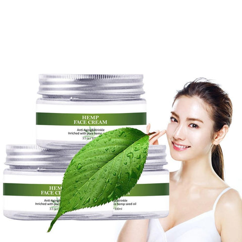 Hemp Face Cream Skin Care Anti Acne Whitening