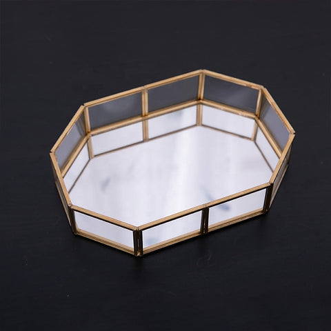 Octagon Glass Rolling Tray For Weed Storage